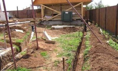 Устройство системы канализации на дачном участке
