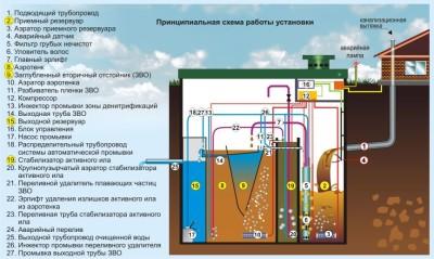 Система для очистки бытовых канализационных стоков