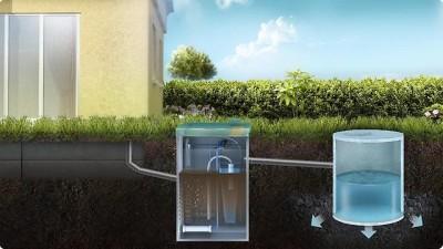 Система биоочистки канализационных стоков на участке